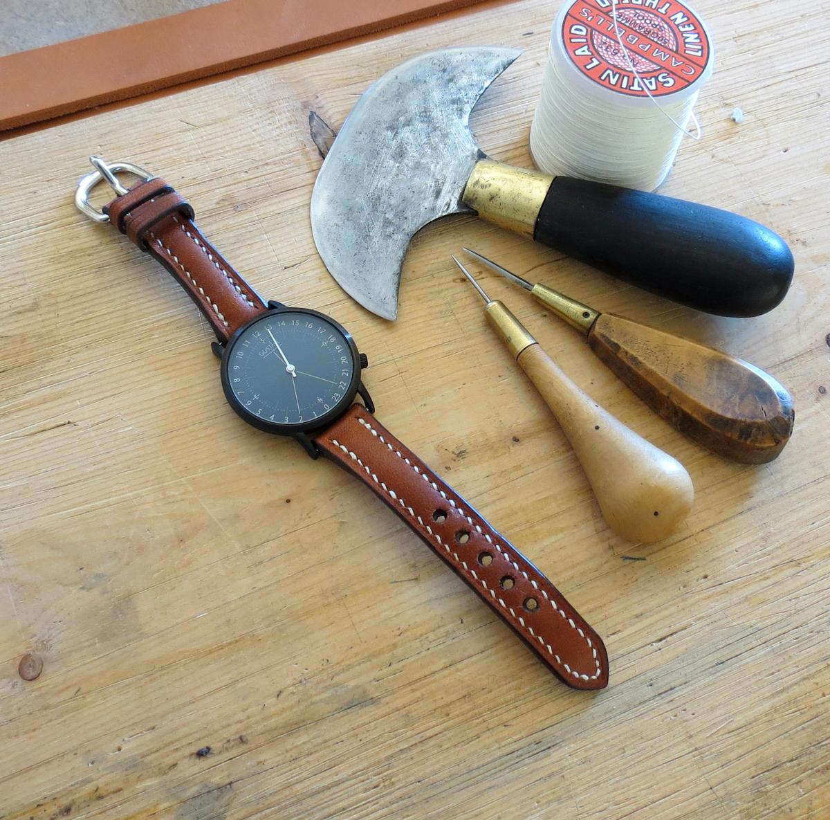 bracelet montre cuir haut de gamme