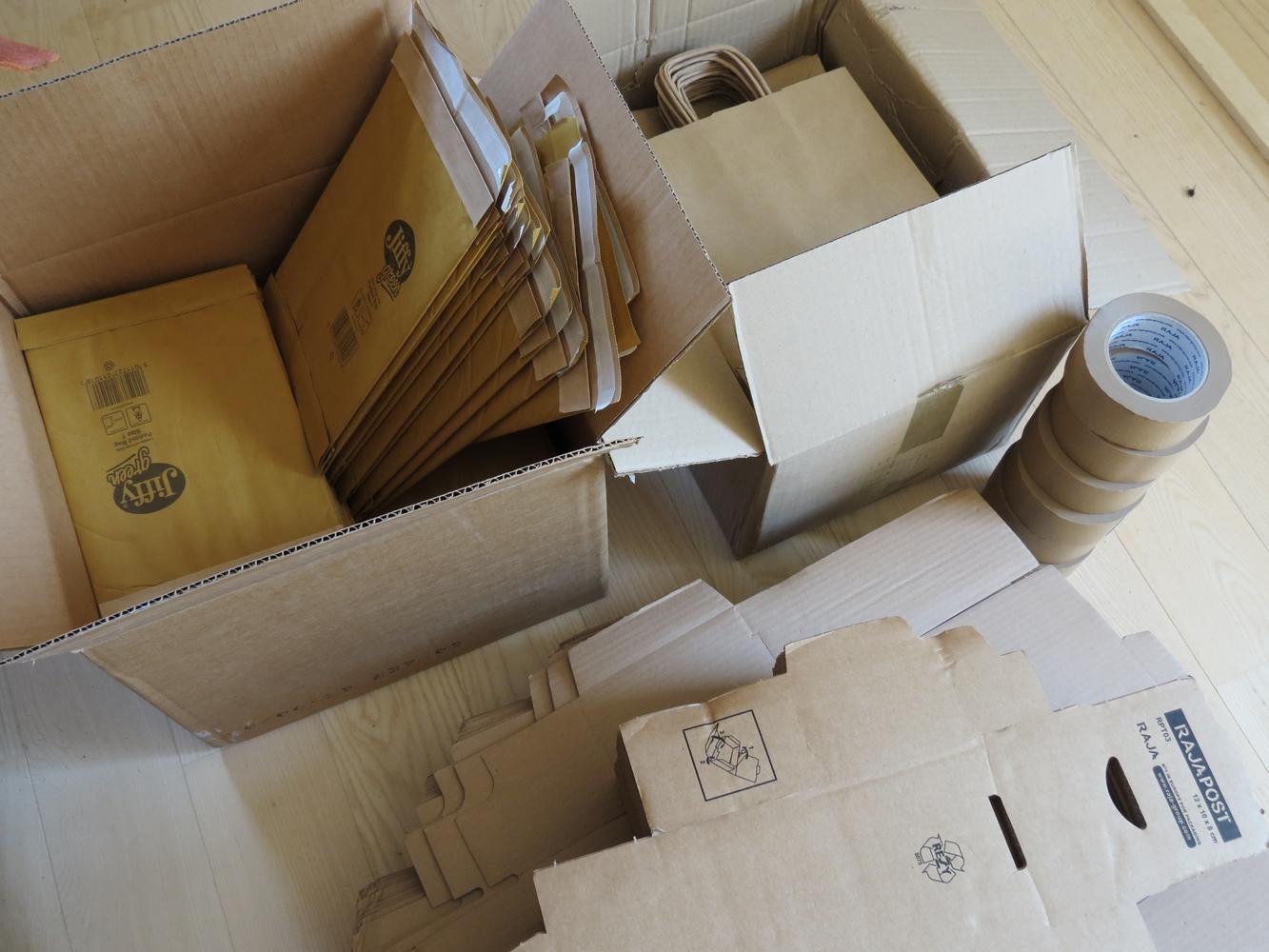 cartons écologiques sellerie