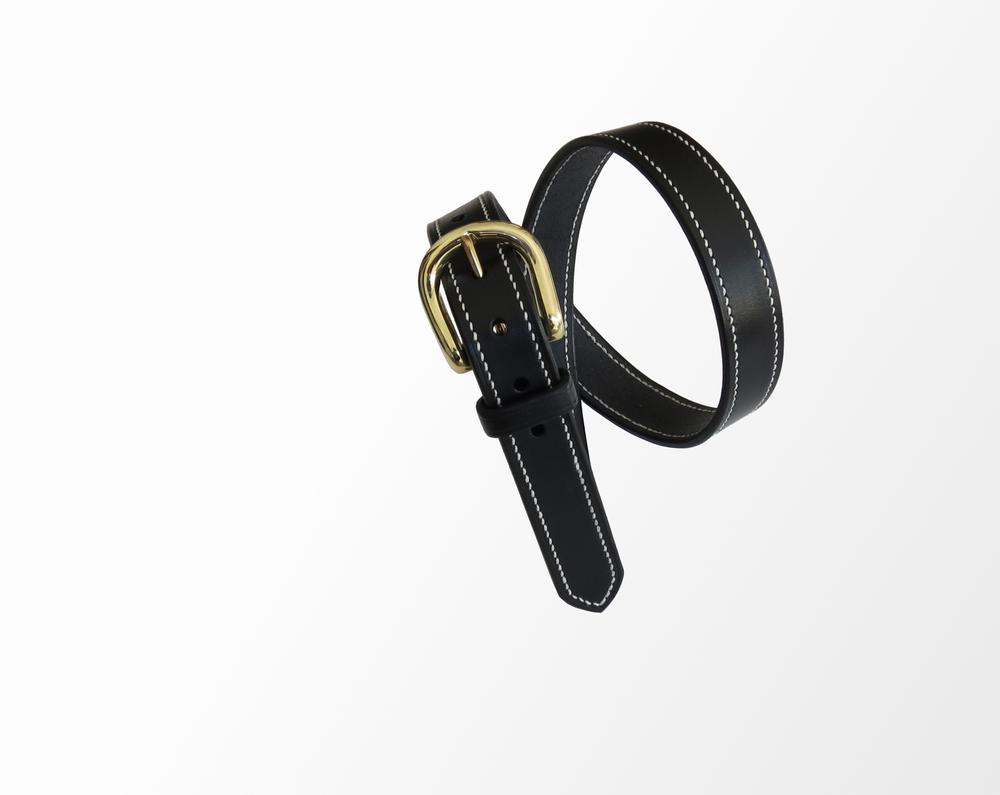 ceinture artisanale cuir noire qualité