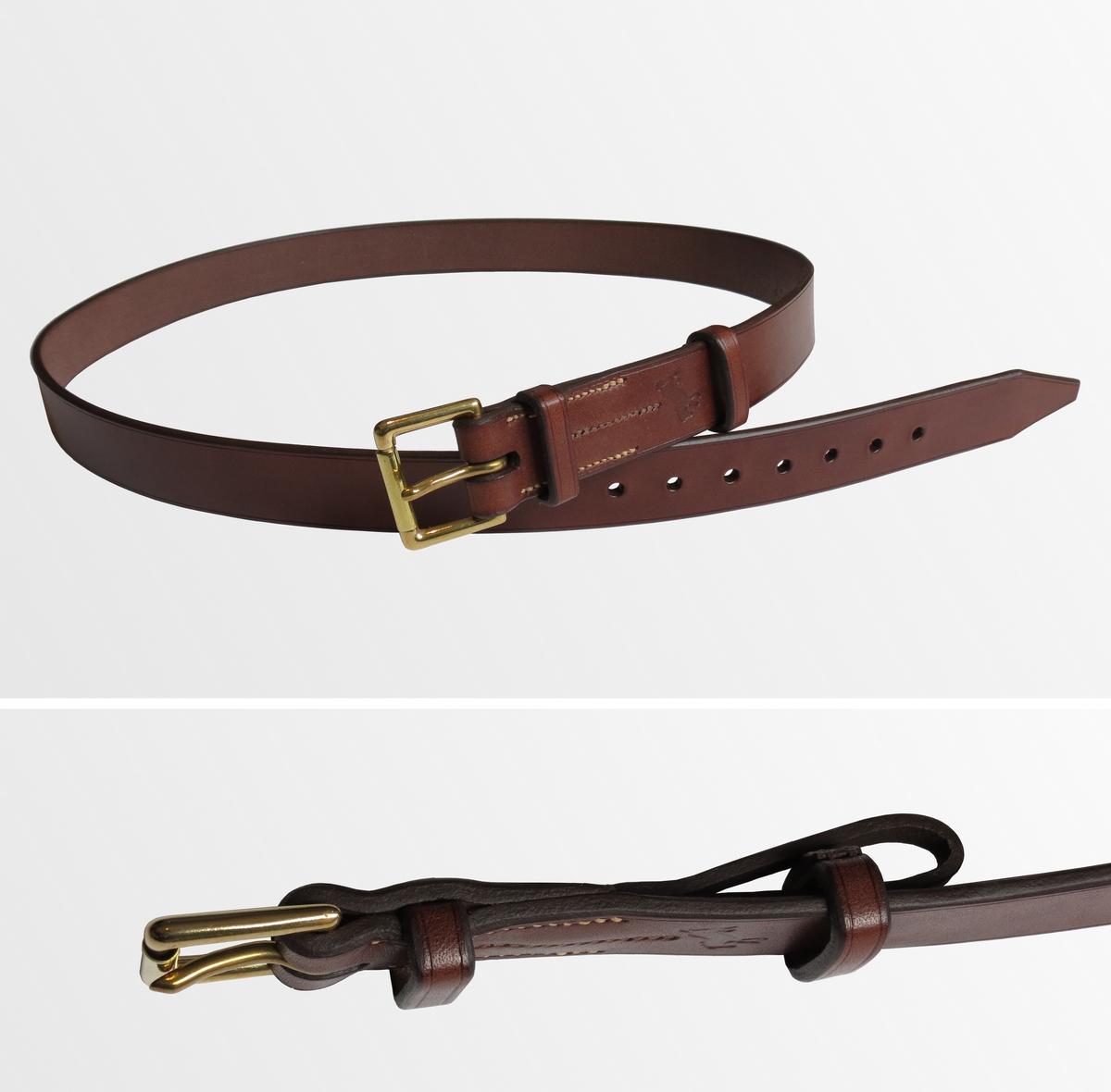 Image d'une ceinture de qualité avec passant à tirette