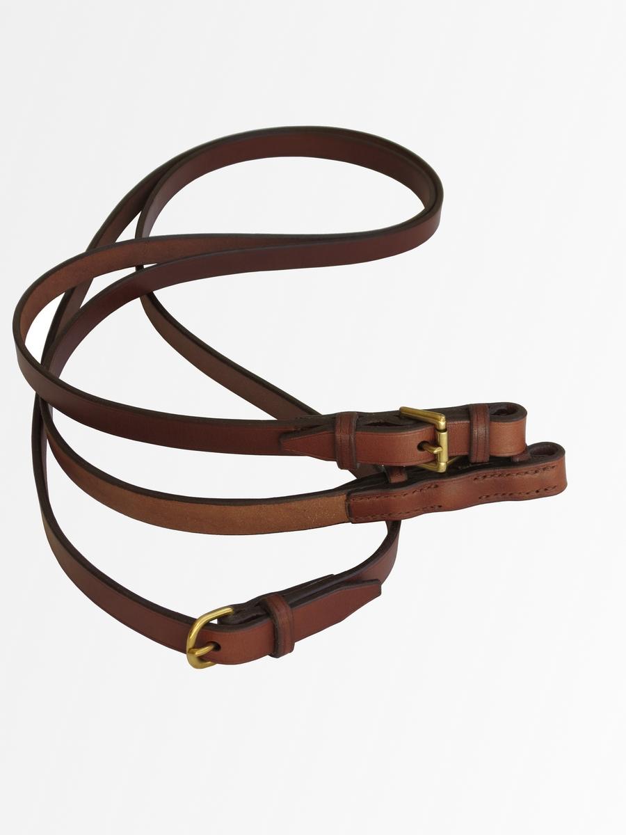 rênes boucles passants cuir cheval