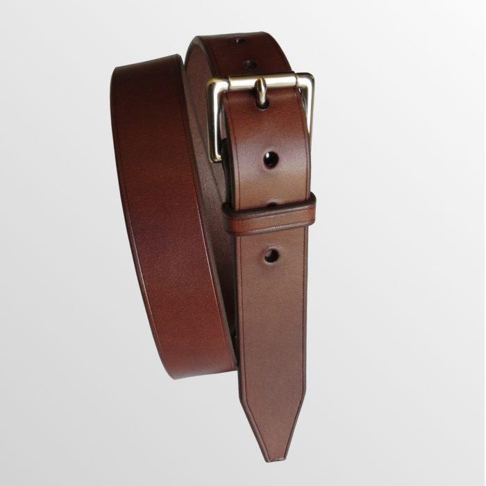 ceinture cuir marron made in france
