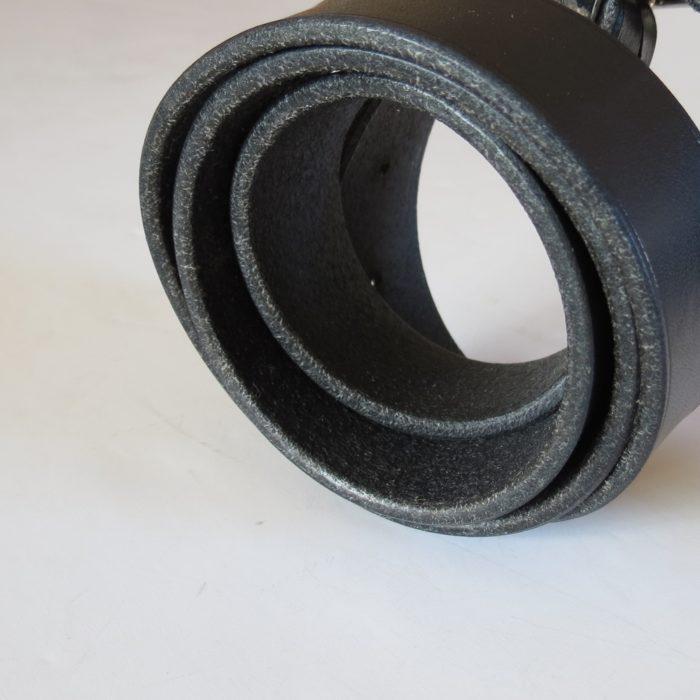 ceinture tranches cuir finition naturelle noir