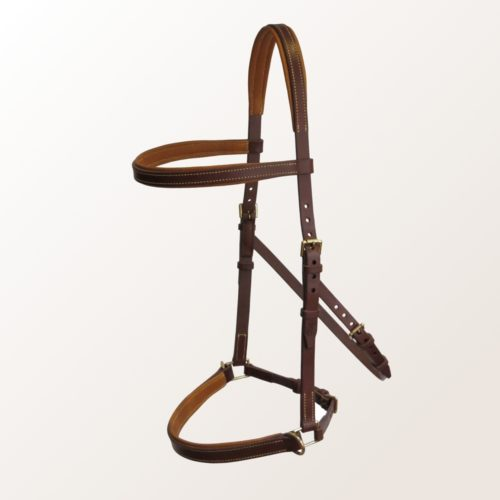 side pull matelassé cheval cuir made in france