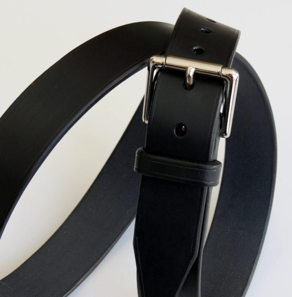 ceinture noire boucle blanche sur mesure made in france