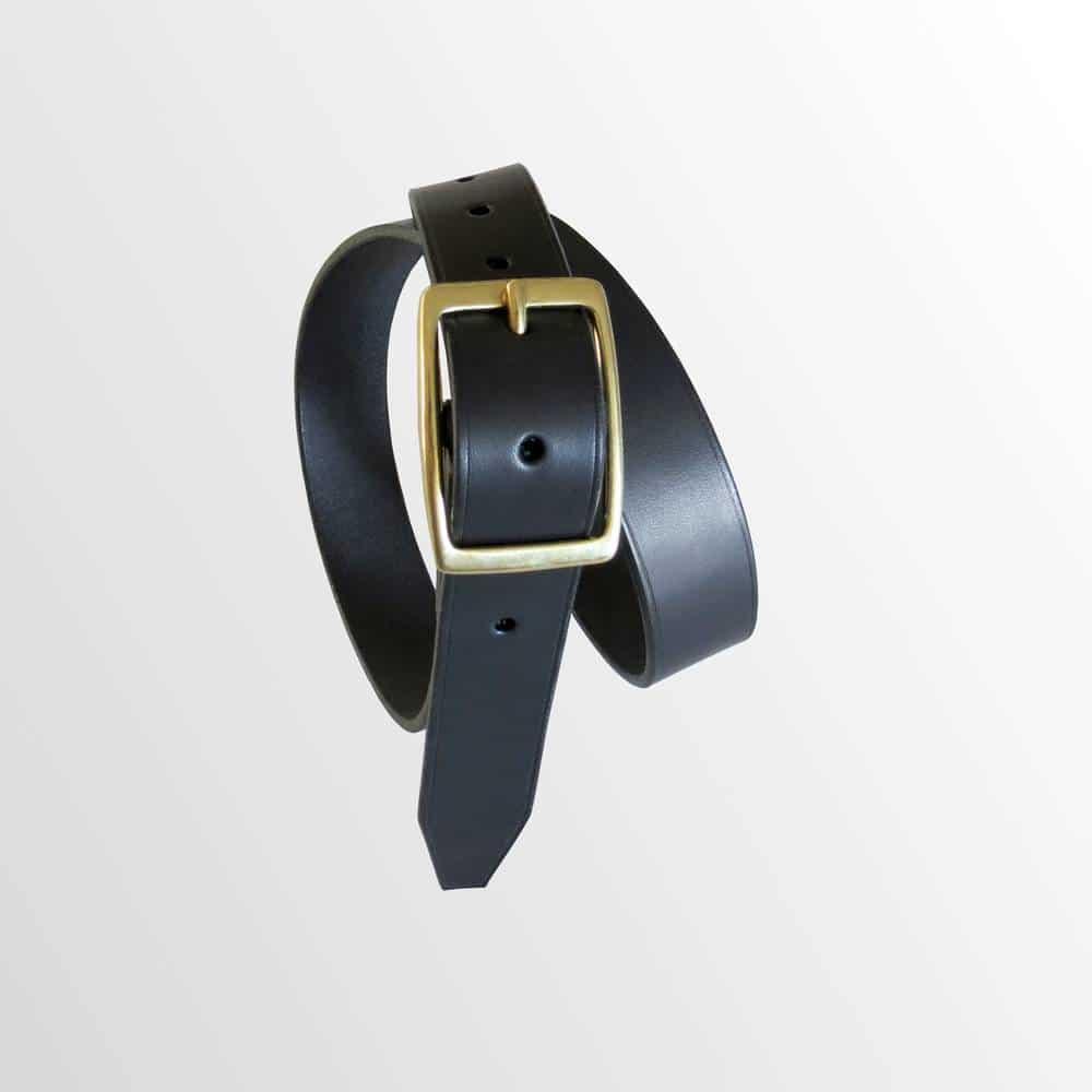 ceinture noire en cuir garantie à vie made in france