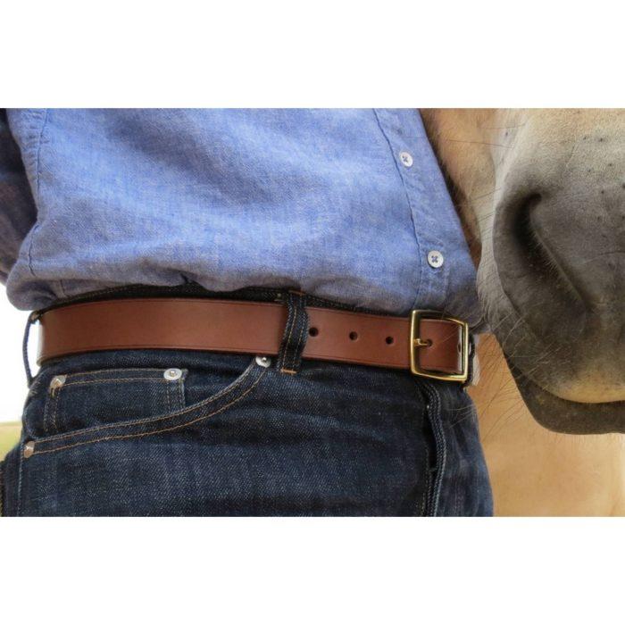 ceinture marron garantie à vie et fabriquée en france