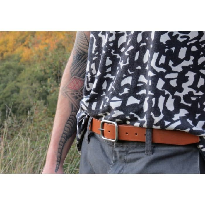 ceinture en cuir avec boucle inox made in france