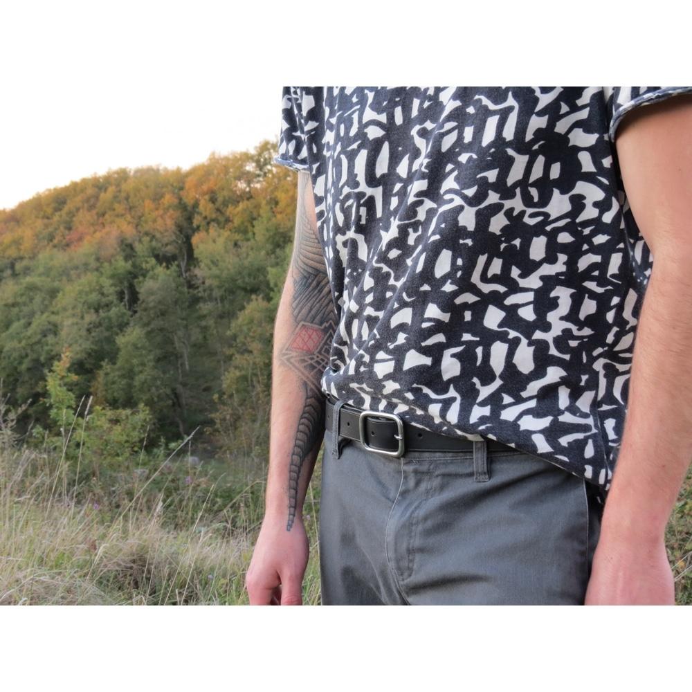 ceinture en cuir avec boucle inox garantie à vie