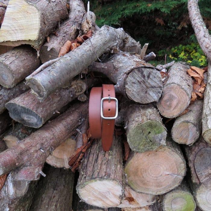 ceinture made in france marron