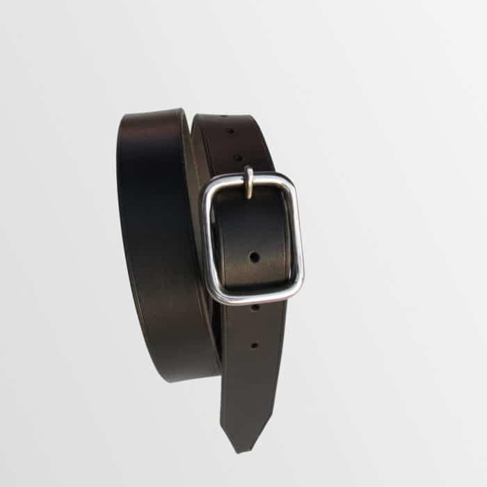 ceinture en cuir avec boucle inox fabriquée en france