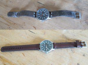remplacement bracelet montre cuir