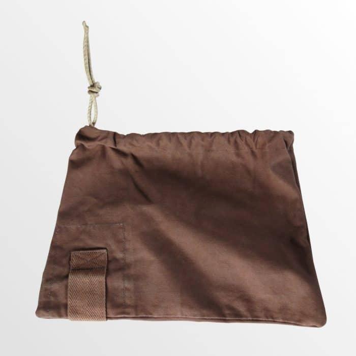 pochette tissu recyclé made in france cordon chanvre